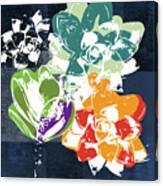 Bold Succulents 1- Art By Linda Woods Canvas Print
