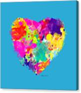 Bold Watercolor Heart - Tee Shirt Design Canvas Print