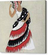 Bolero Costume Canvas Print