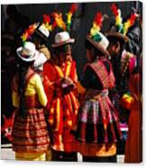Bolivian Typical Costume Canvas Print