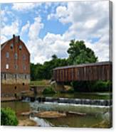 Bollinger Mill And Covered Bridge Canvas Print