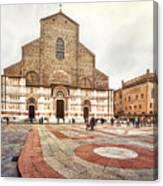 Bologna, Italy San Petronio Basilica Facade Crescentone Canvas Print