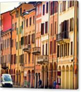 Bologna Window Balcony Texture Colorful Italy Buildings Canvas Print