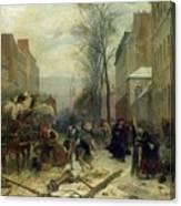 Bombardment Of Paris In 1871 Canvas Print