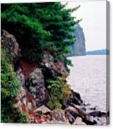 Bon Echo Shoreline Wc 2  Canvas Print