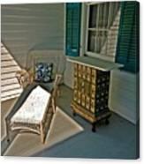 Bon Secour Lounge On The Porch Canvas Print