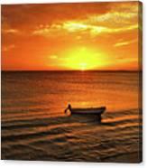 Bonaire Sunset 4 Canvas Print