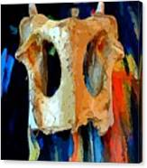 Bone And Paint Abstract Canvas Print