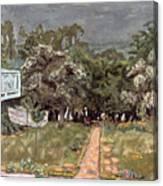 Bonnard: Balcony, 1909-10 Canvas Print