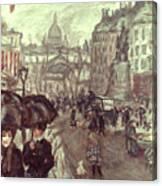 Bonnard: Place Clichy, C1895 Canvas Print