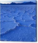 Bonneville Salt Flats At Dusk Canvas Print