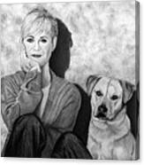 Bonnie Hunt And Charlie Canvas Print