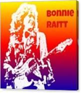 Bonnie Raitt Pop Art Canvas Print