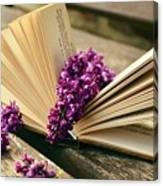 Book And Flower Canvas Print