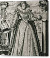 Book Frontispiece Celebrating Queen Elizabeth I's Happy And Prosperous Reign Canvas Print
