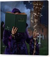 Book Of Magic Spells Canvas Print