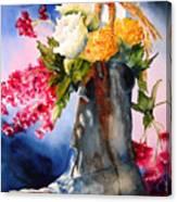 Boot Bouquet Canvas Print
