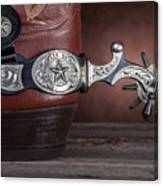 Boot Heel With Texas Spur Canvas Print