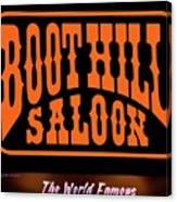 Boot Hill Saloon Sign Canvas Print