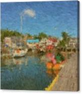 Boothbay Harbor At 5 Canvas Print