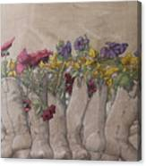 Boots And Flowers Canvas Print