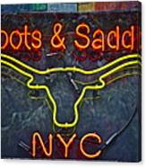 Boots And Saddle Nyc Canvas Print