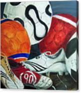 Boots N Balls Canvas Print