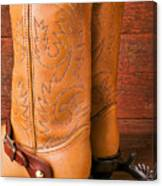 Boots With Spurs Canvas Print