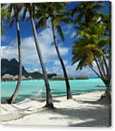 Bora Bora Beach Hammock Canvas Print