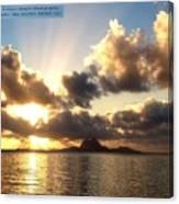 Bora Bora Sunset  Canvas Print