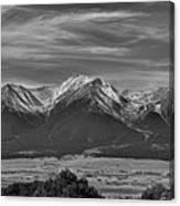 Boreas Mountain And Siblings Canvas Print