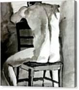 Bored Man Canvas Print