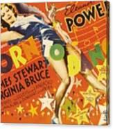Born To Dance 1936 Retro Movie Poster Canvas Print