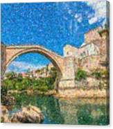 Bosnia Mostar Herzegovina Europe Travel Landmark Canvas Print