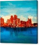 Boston Abstract Canvas Print