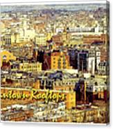 Boston Beantown Rooftops Digital Art Canvas Print