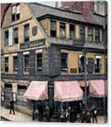 Boston: Bookshop, 1900 Canvas Print