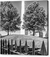 Boston Bunker Hill Monument - Monochrom Canvas Print