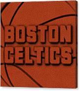 Boston Celtics Leather Art Canvas Print