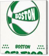 Boston Celtics Vintage Basketball Art Canvas Print