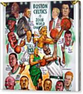 Boston Celtics World Championship Newspaper Poster Canvas Print