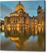 Boston Christian Science Building Reflecting Pool Canvas Print