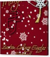 Boston College Eagles Christmas Card Canvas Print