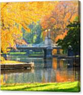 Fall Season At Boston Common Canvas Print