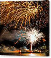 Boston Fireworks On The Charles Canvas Print