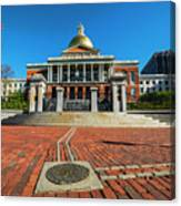 Boston Freedom Trail To State House Boston Ma Canvas Print