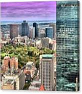 Boston From Above Canvas Print