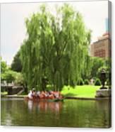 Boston Garden Swan Boat Canvas Print