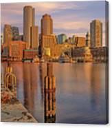 Boston Habor Sunrise Canvas Print