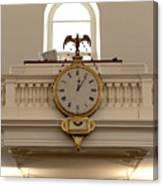 Boston Historical Meeting Room Clock Canvas Print